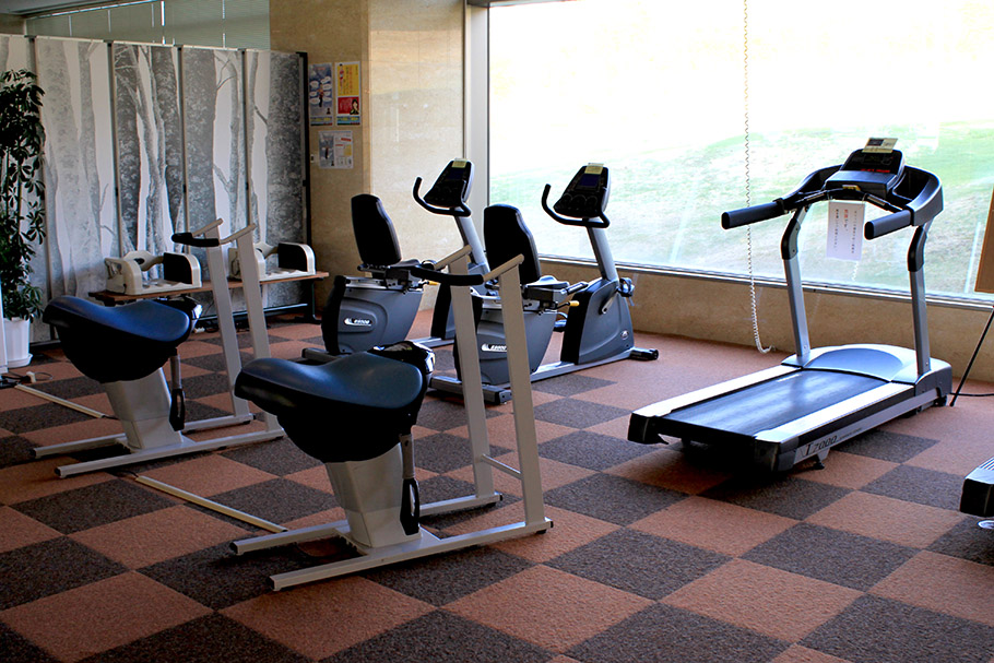 The gym at the rockwood hotel